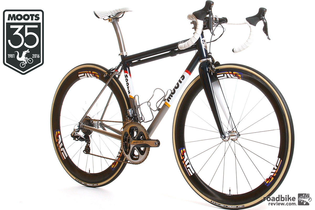 The Vamoots RSL Limited Edition is offered fully-built with a Shimano Di2 group set. Price is $15,000.