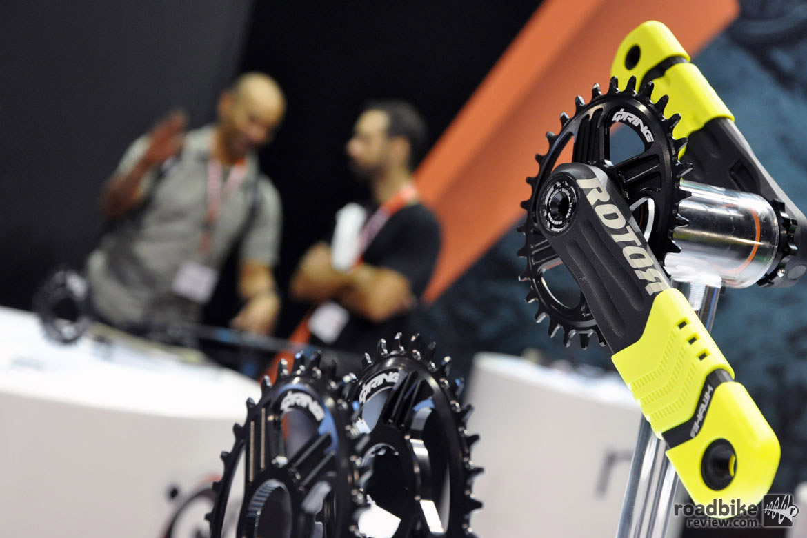 For companies such as Rotor, this show is an opportunity to present their product to a truly global audience. Photo courtesy Eurobike