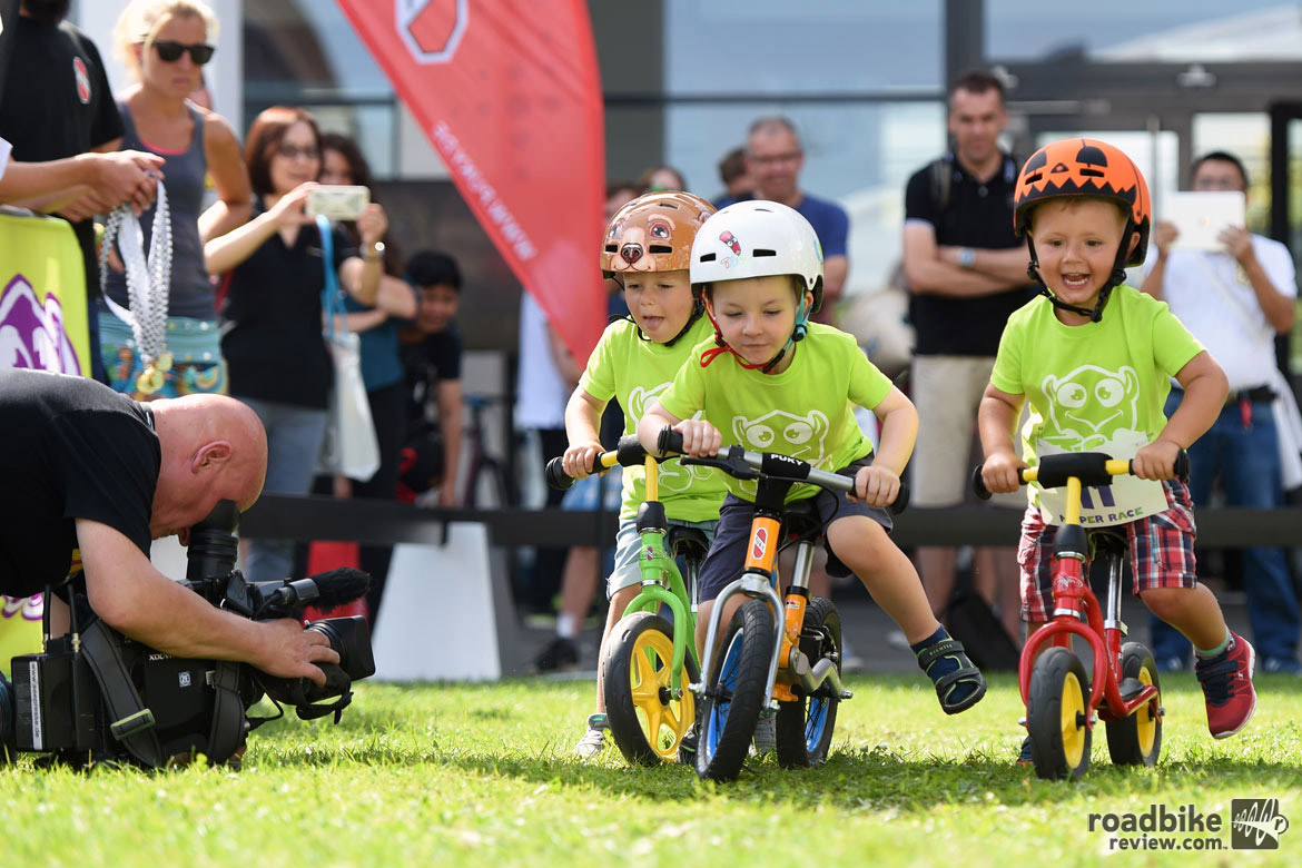 Kids had a chance to get in on the act, too. Photo courtesy Eurobike