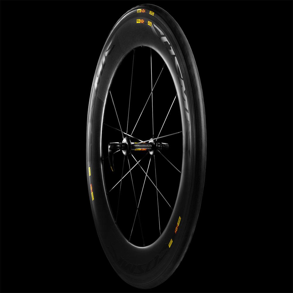 Cosmic CXR 80 Front Wheel on Black