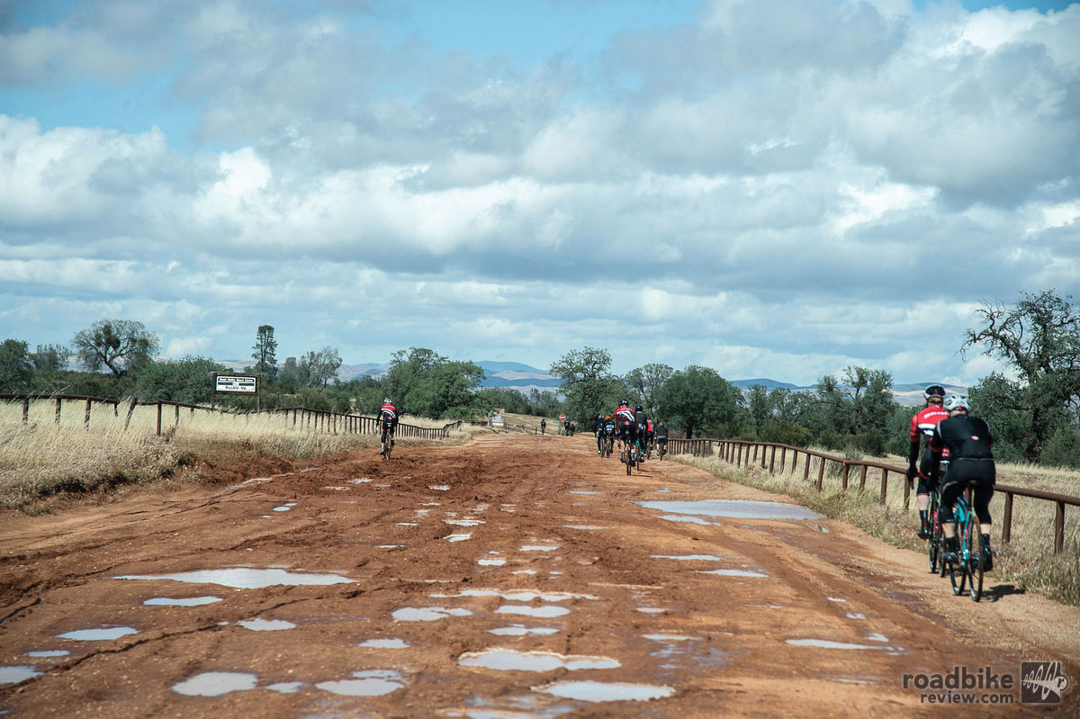 Even this minefield of potholes did little to slow down our group. Photo by Nils Nilsen/N2Photo