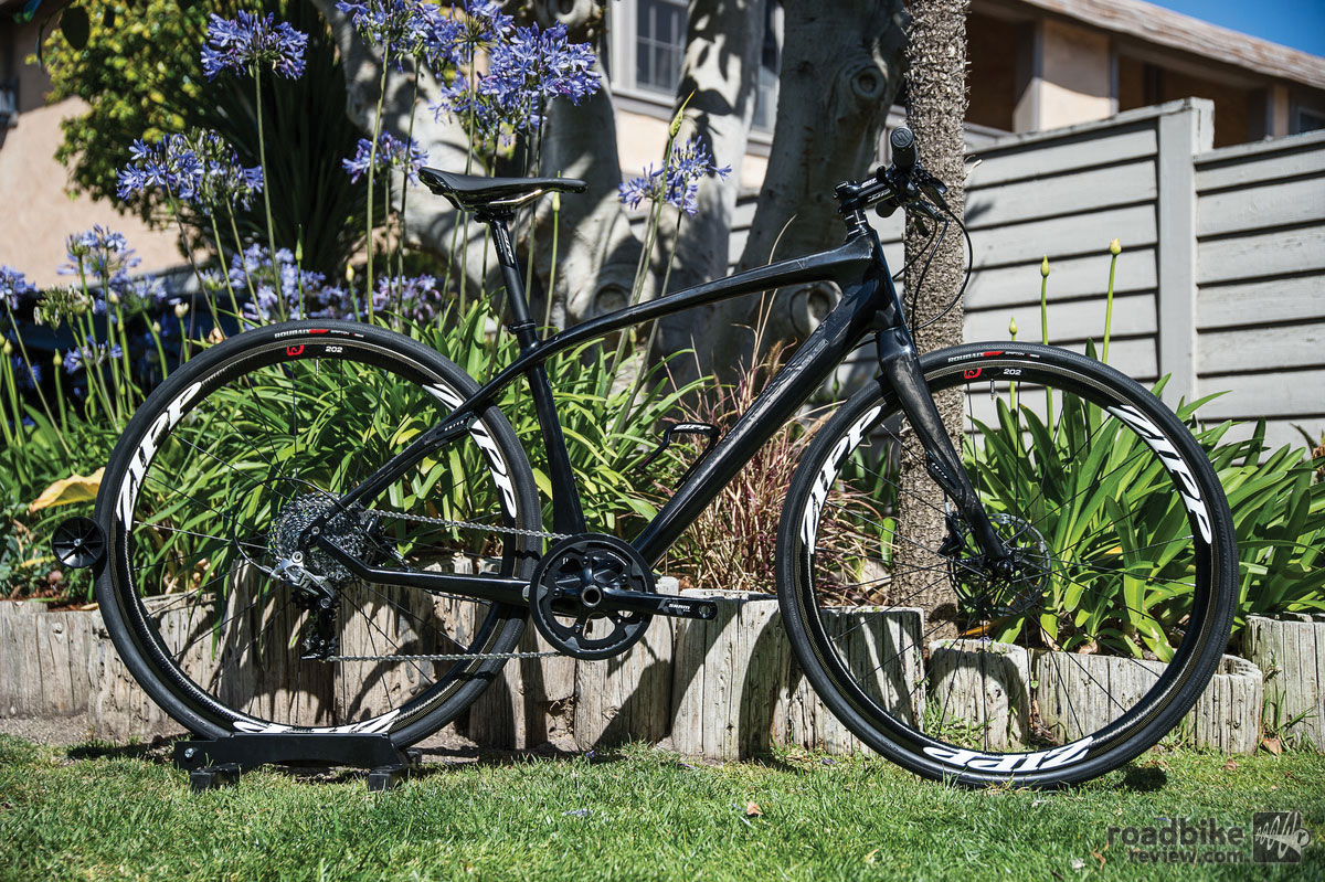 Flat bar fitness bikes seem the perfect avenue for 1x systems. Photo by Nils Nilsen/N2Photo