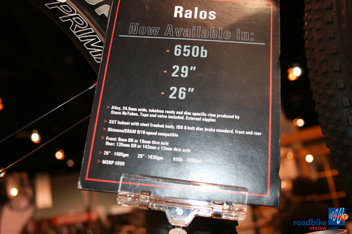 Rolf Prima Ralos - 3 mtb tire sizes