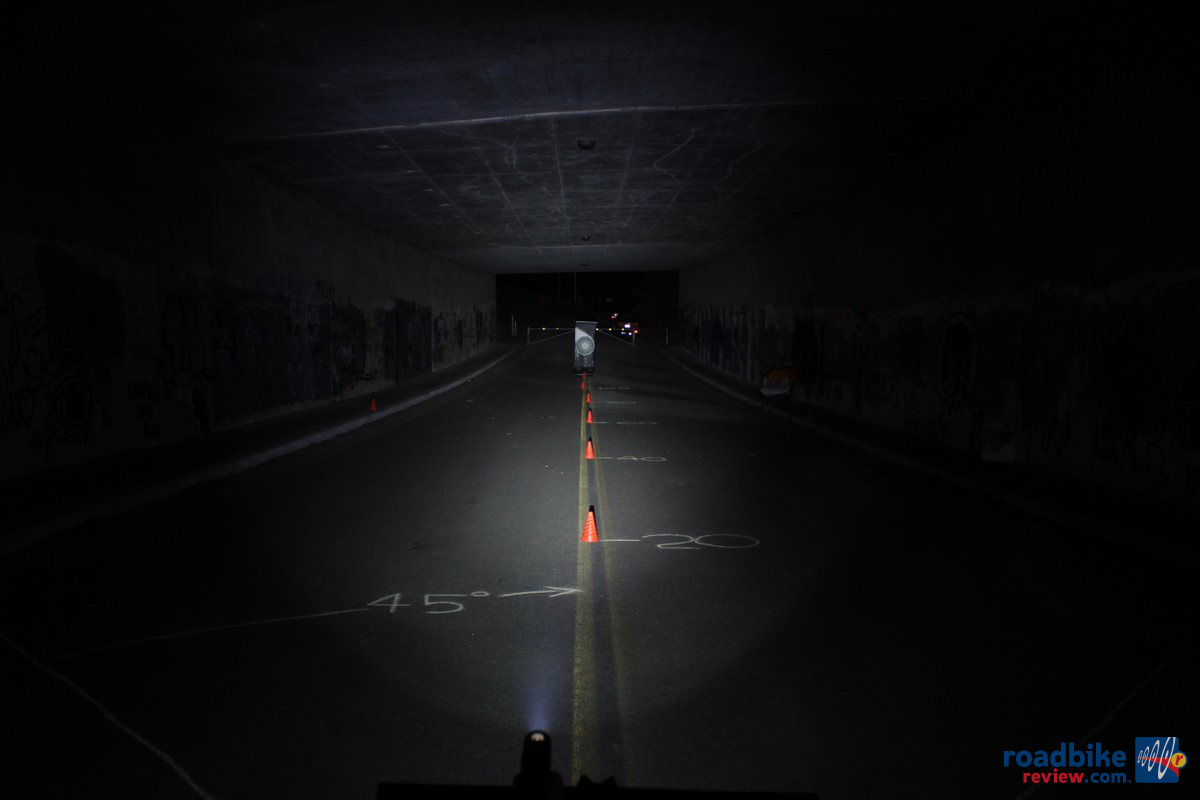 CatEye Volt 300 Tunnel Beam Pattern
