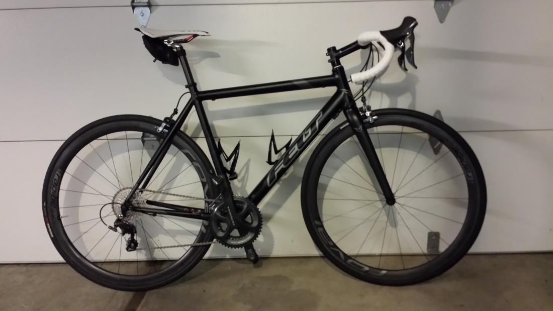 Road Bike Build Felt Aluminum Frame Carbon Fork Weight