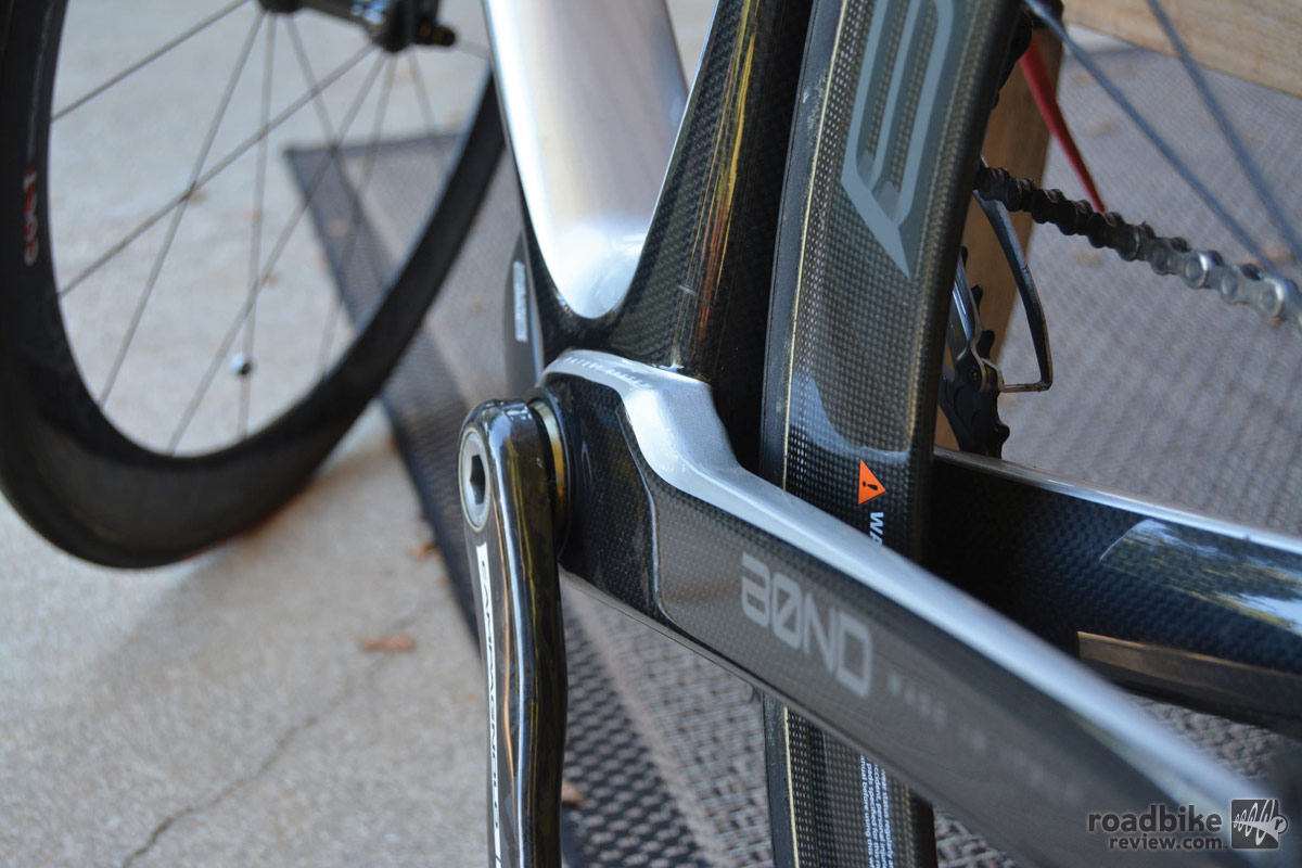 The patented rear triangle construction system is called Atomlink, and is claimed to allow for greater reactivity and power transfer.