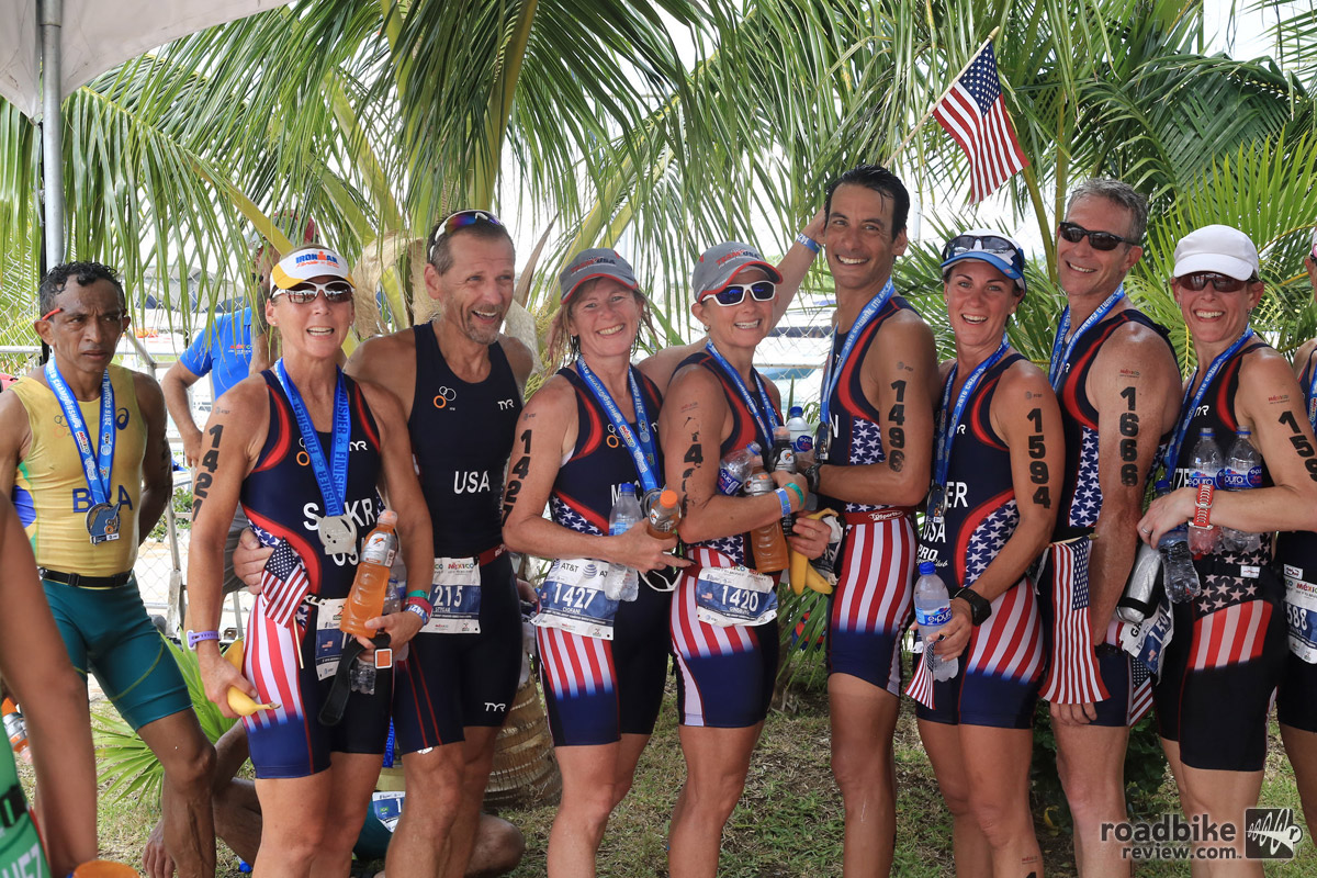 The U.S. contingent in Cozumel, including the author (fourth from right).