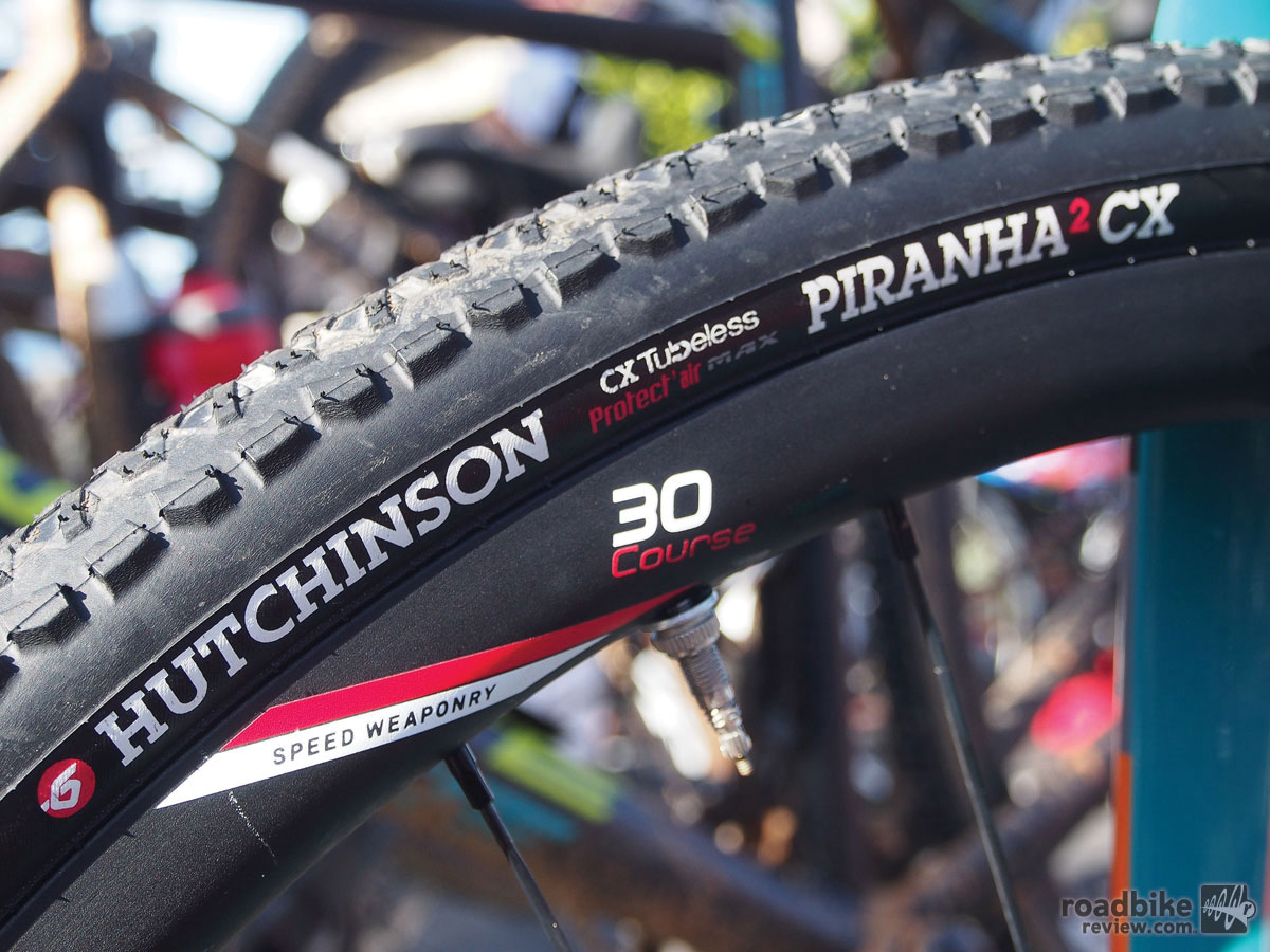 Hutchinson's Piranha 2 CX looks like it was made to go with the new Zipp 30 Course.