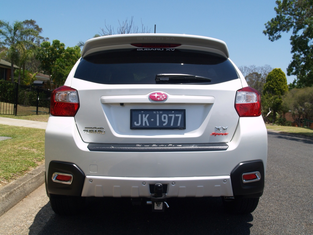 Subaru XV Crosstrek hitch from rear