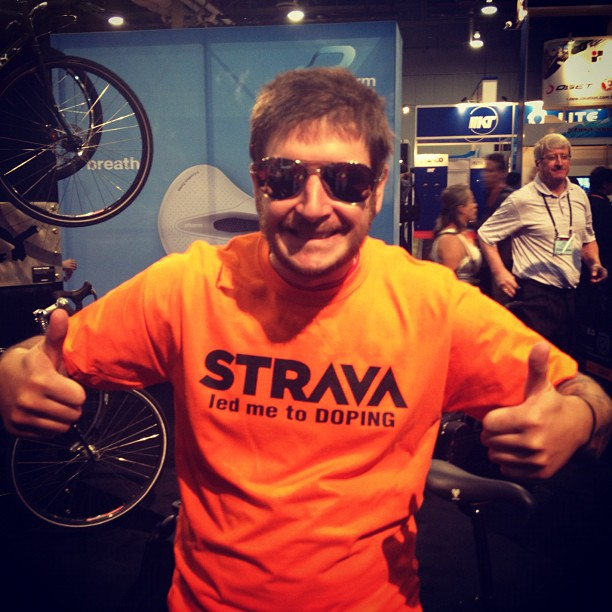 Strava led me to doping T-shirt