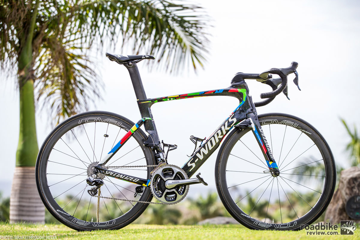 Peter Sagan's beautiful custom 2016 Specialized S-Works Venge ViAS. Photo by Brakethrough Media (@brakethrough_Media)