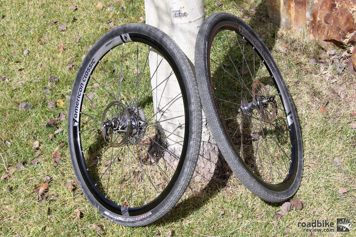 The American Classic Argent Disc wheels can do triple duty as a road, CX or gravel road conduit.