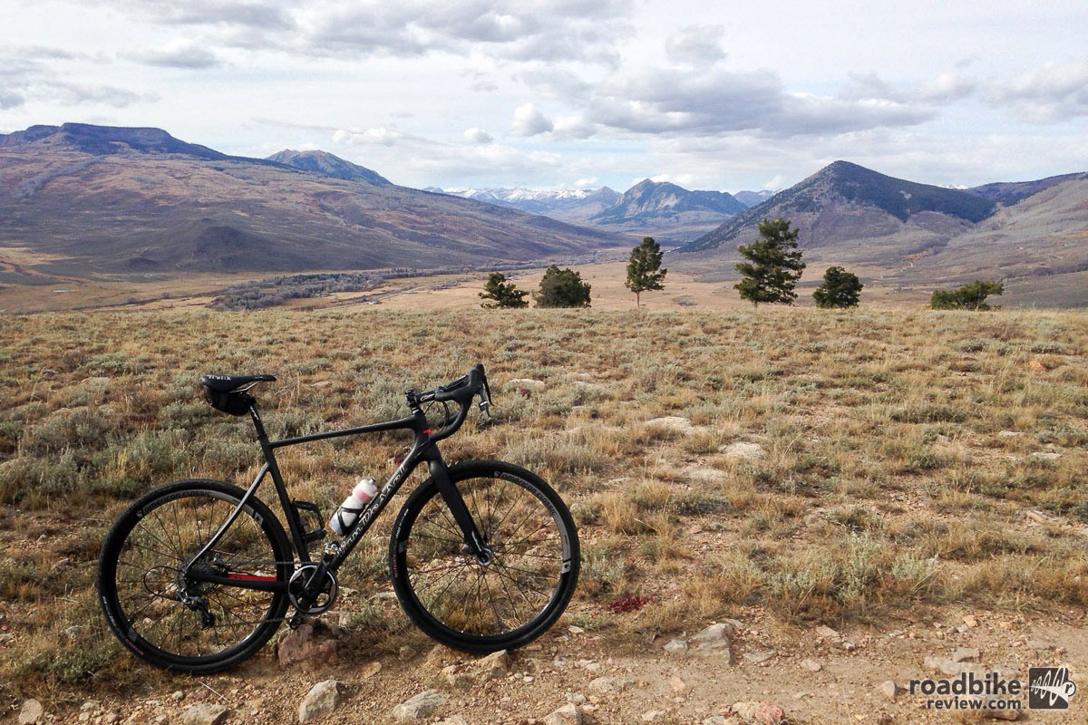 Exploring new heights was elemental to this test session. That's Mt. Crested Butte in the center of the background.
