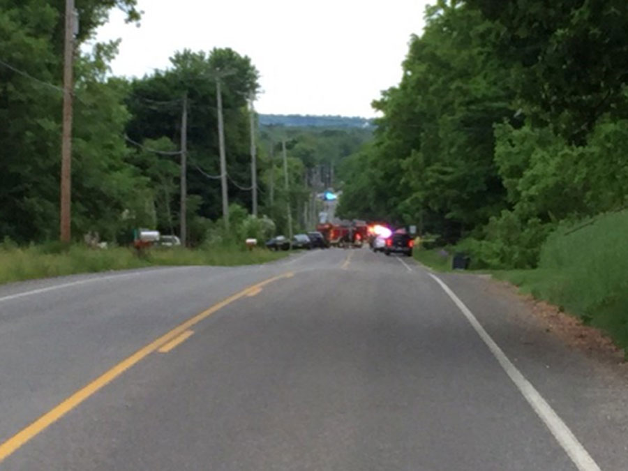 This two-lane road near Kalamazoo, Michigan, was the scene of a tragic accident Tuesday evening.