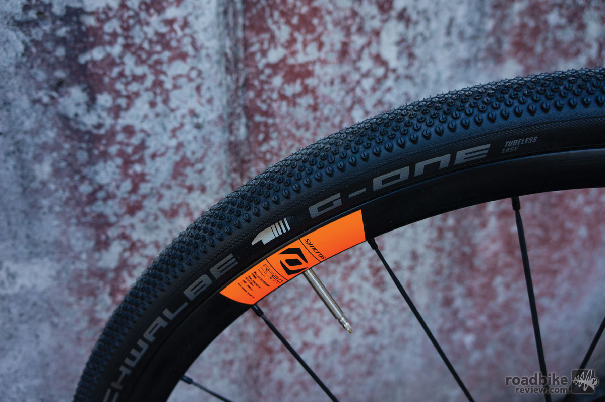 "The Schwalbe G-One is part of the German tire maker's ""Tubeless Easy"" line-up."
