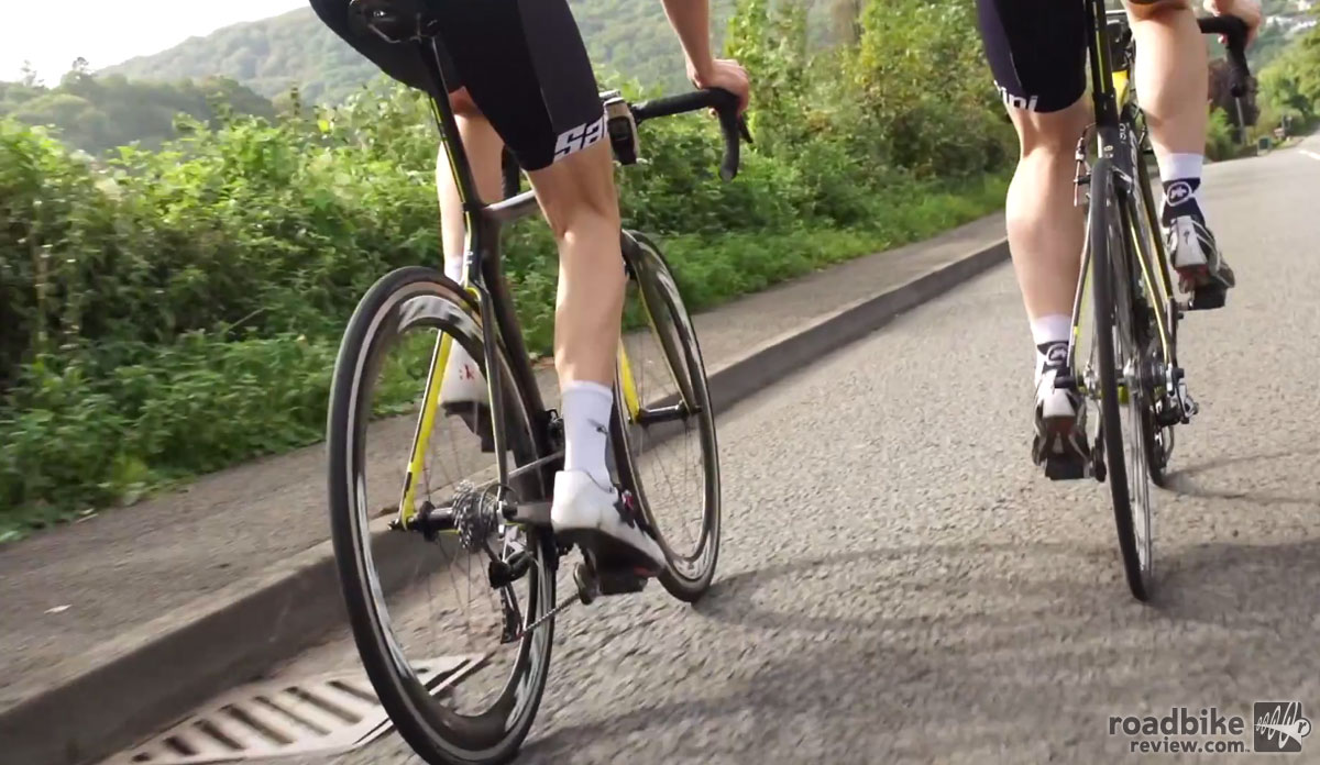Photo: Just as you'd expect, with the hammer down on the flats, an aero bike is faster. But when it comes time to buy a bike you'll need to factor in more than just raw speed.