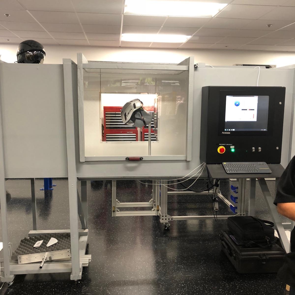Airflow testing at Giro HQ.