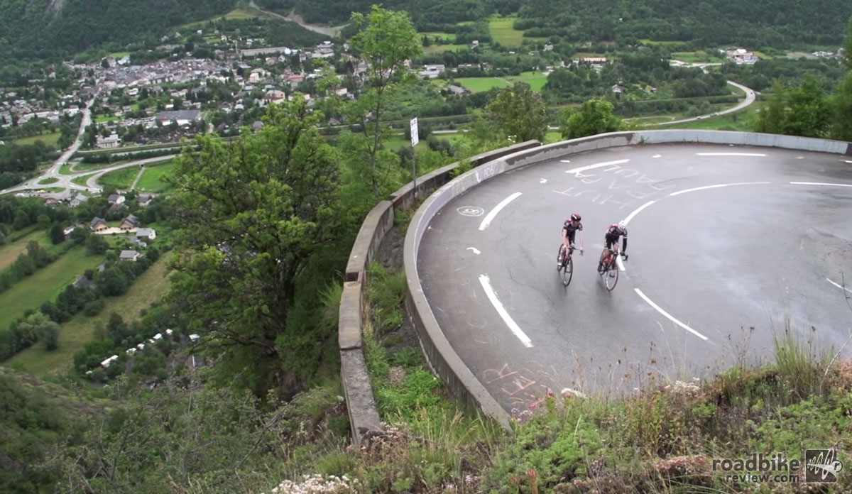 The testing slopes of Alpe d'Huez, one of the most famous and feared climbs in cycling.