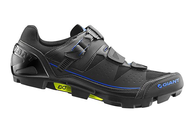 The new Giant MTB shoes are billed as having better traction when running or walking up steep climbs.