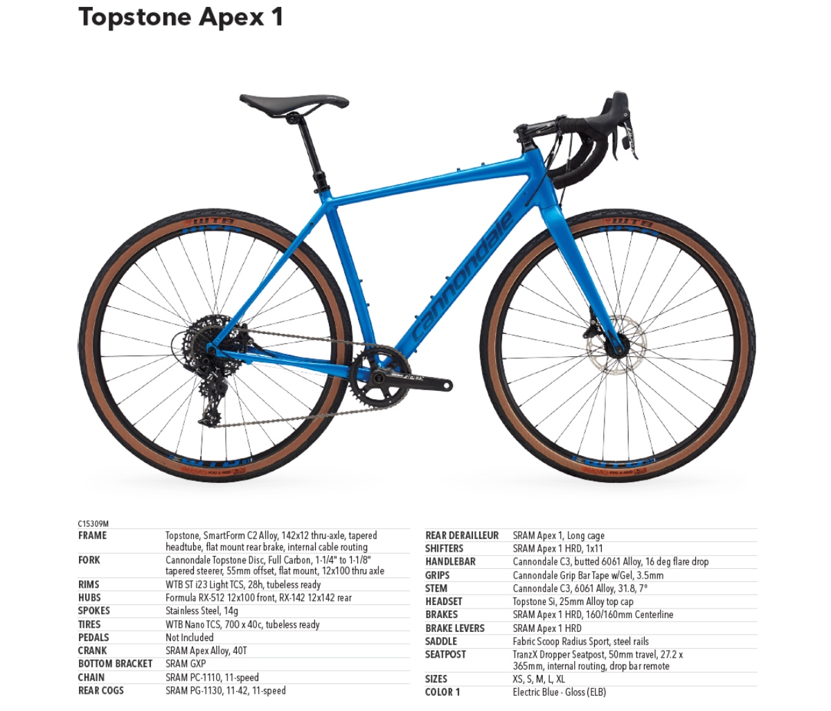Cannondale Topstone Apex 1