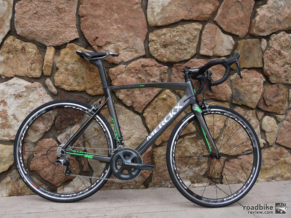 The San Remo76 race bike is EMC's take on the popular aero road bike category.