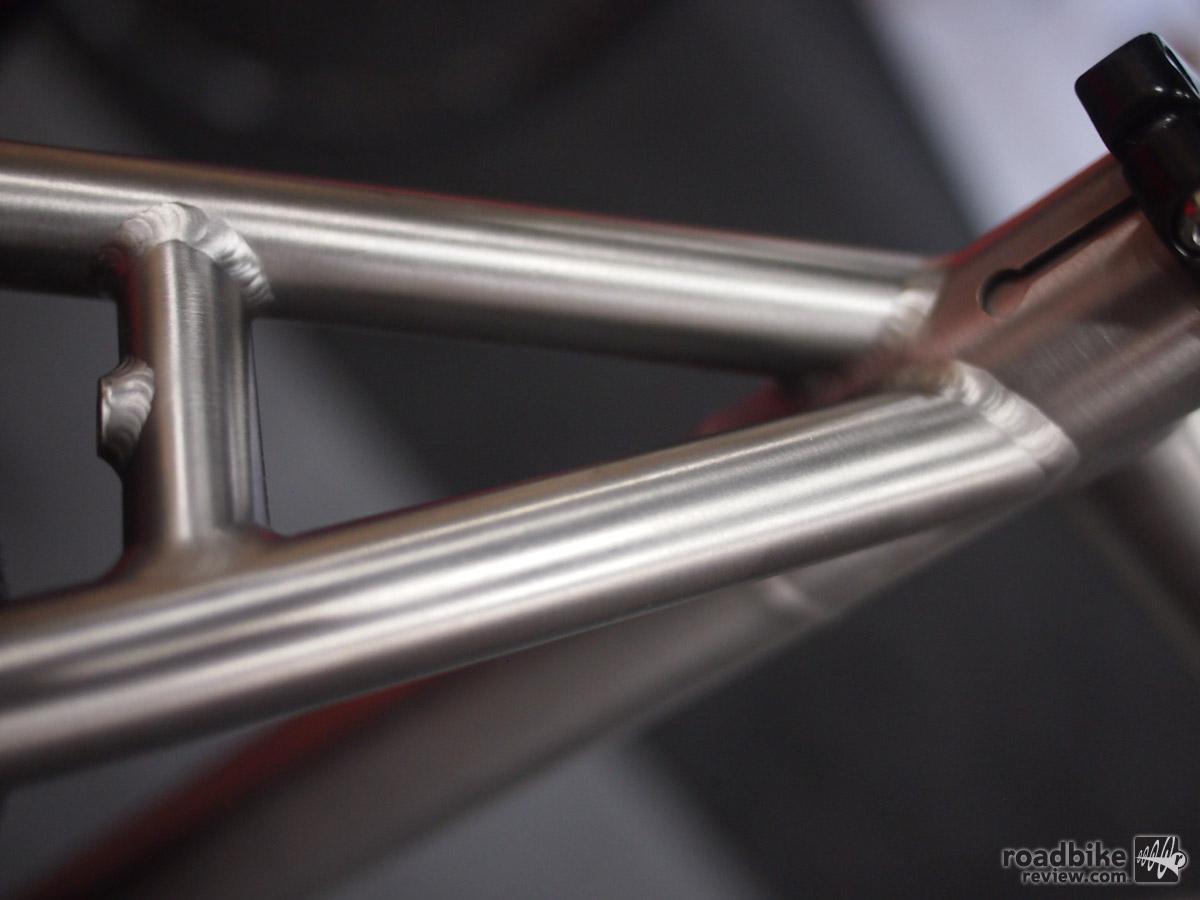 Rear seatstay welds and cross brace.