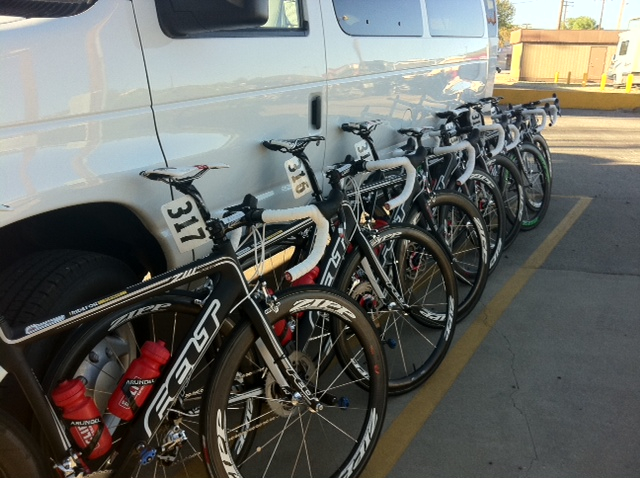 bikes ready for Gila