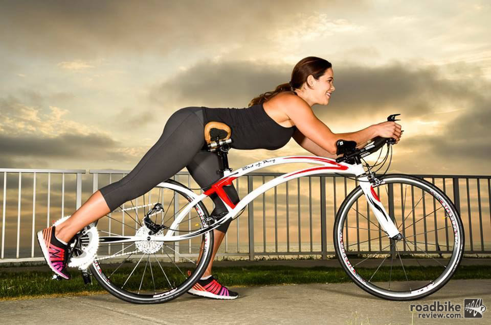 Bird of Prey Bicycles isn't just turning the standard riding position on its head, it also flips the drivetrain upside down.