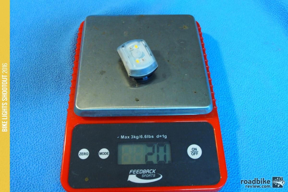 Incredibly light at 20 grams.