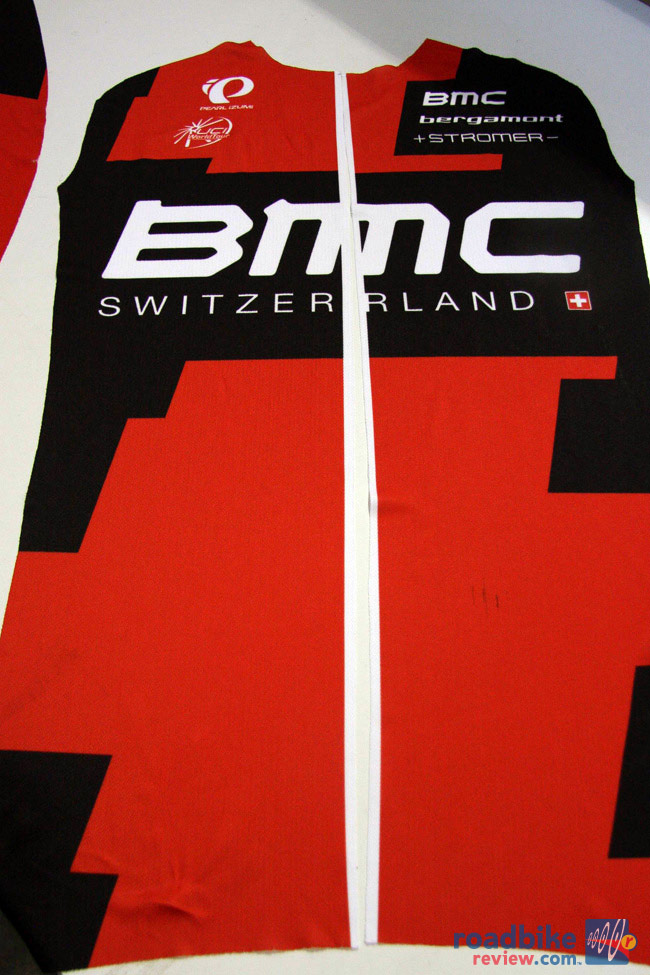 BMC jersey ready to be sewn