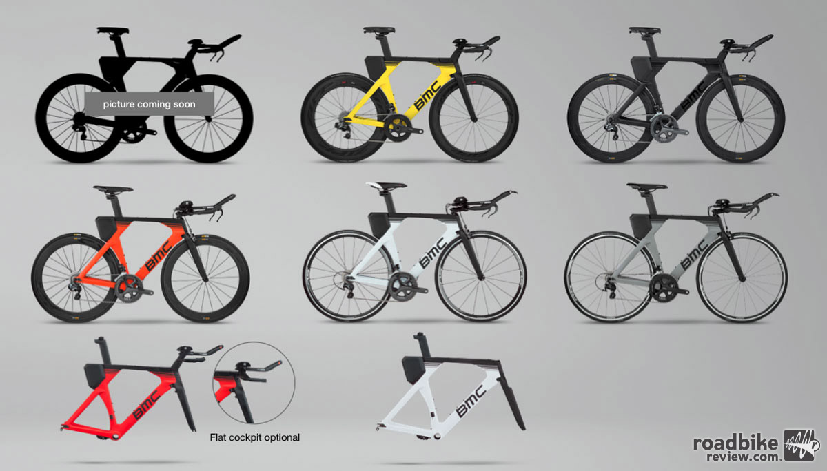 There are eight frame/builds to choose from.