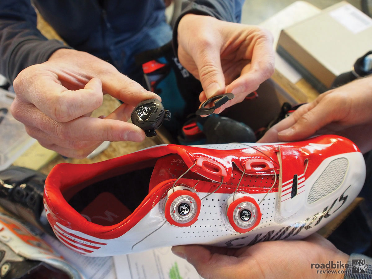 Specialized helped lead Boa into the cycling space, and its shoes are still outfitted with exclusive dials that are more flush than on other cycling shoes.
