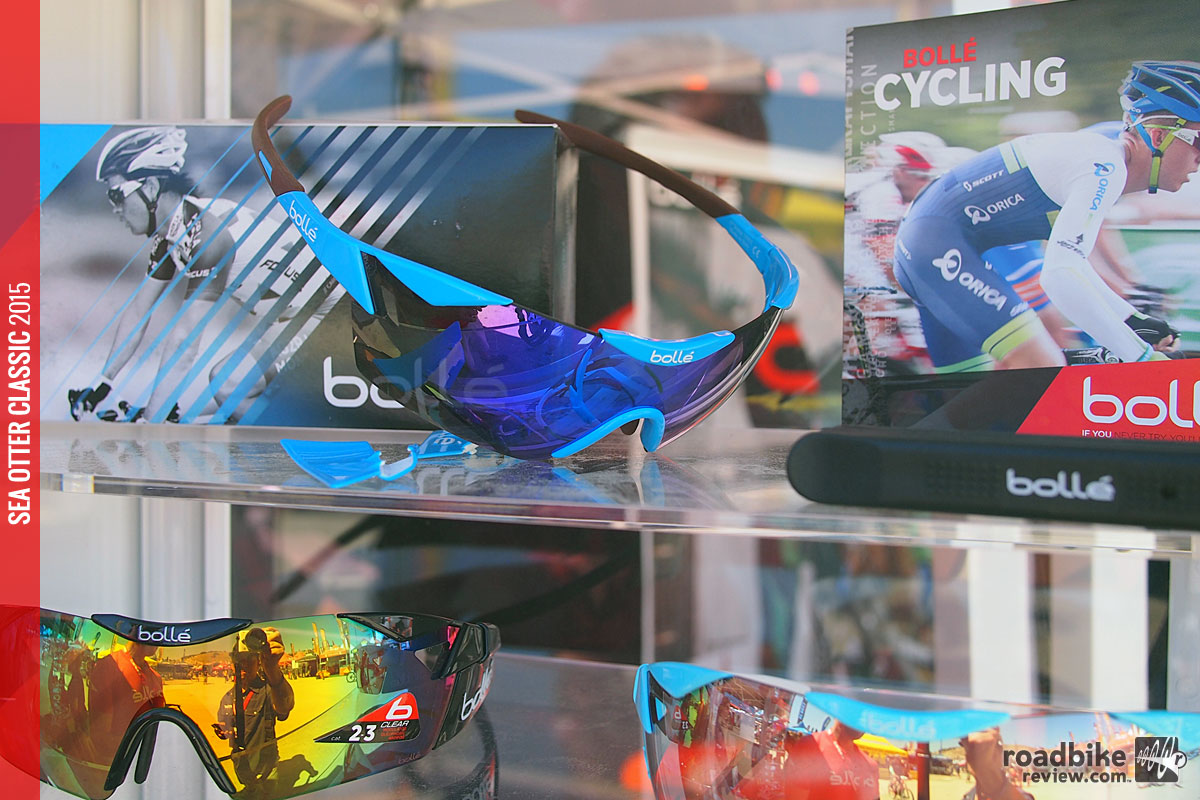 The Bollé 6th Sense is a popular cycling sunglass shown in AG2R colors.