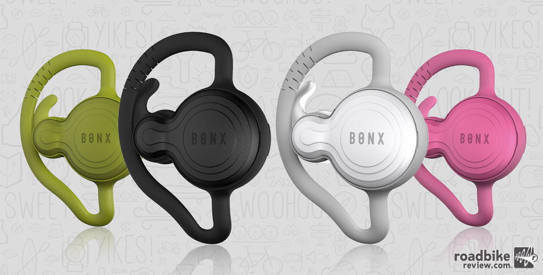The Bonx Grip is available in three different sized earbuds and four colors.