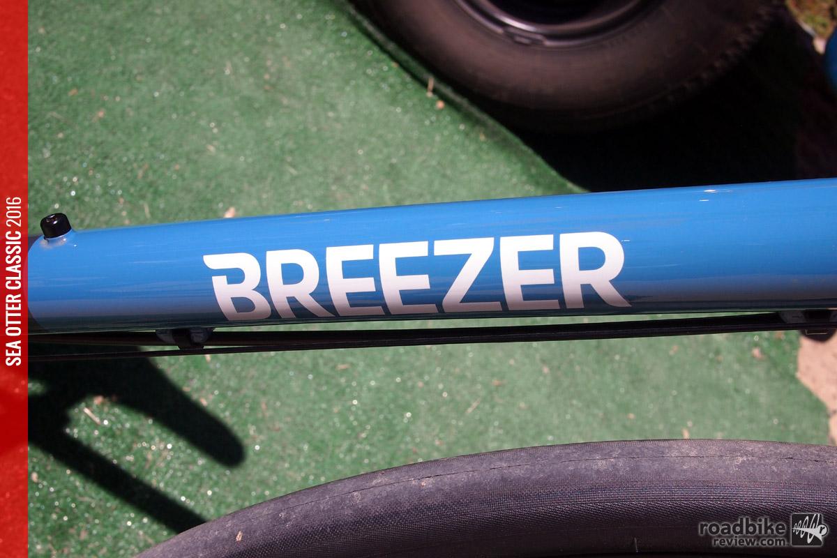 Breezer name on the downtube.