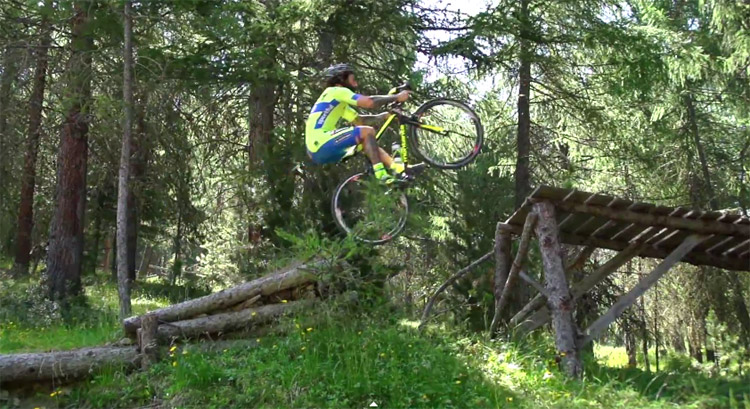 Road bikes can huck too.