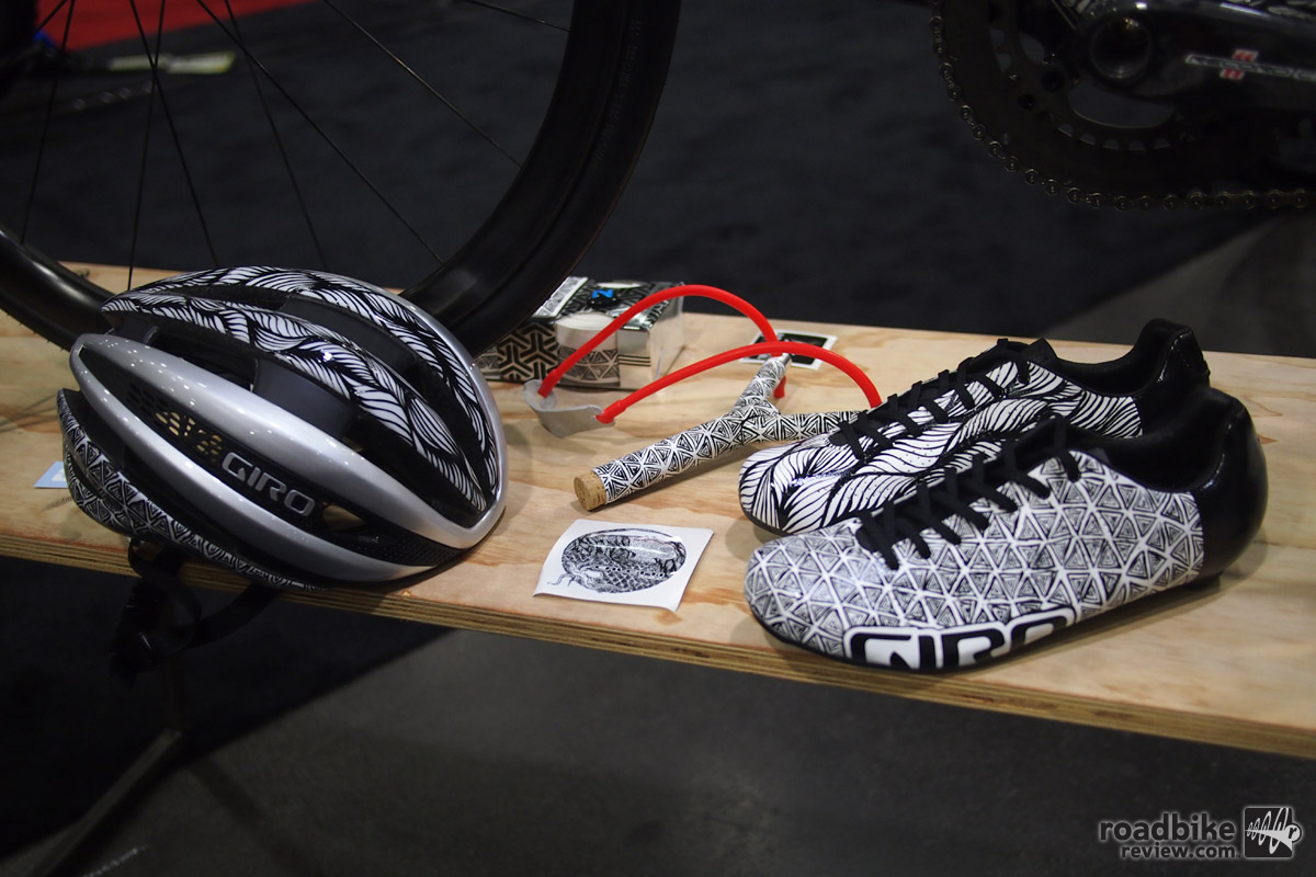 Since the proud owner works at Giro/Bell, the matching pair of shoes and Giro helmet are a natural fit.