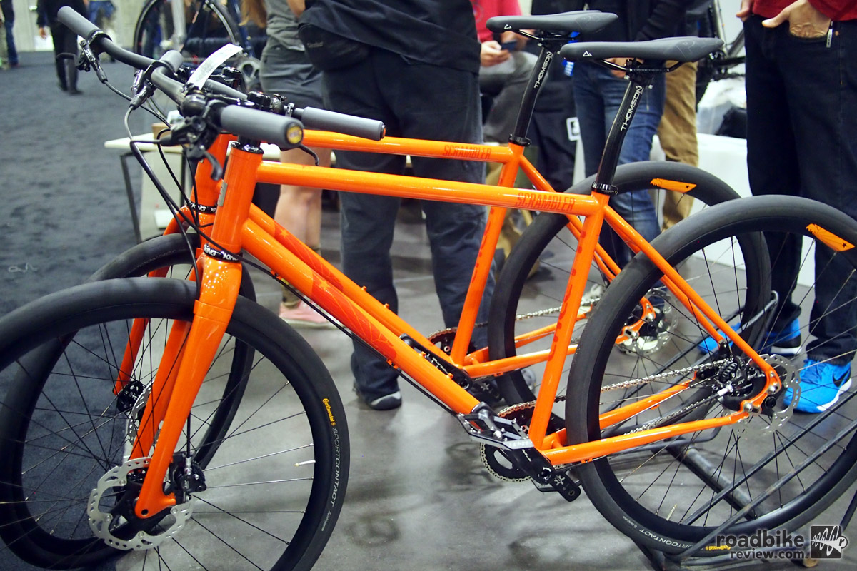 Caletti's version of a production bike, the Scrambler is a disc brake equipped do-it-all bike.