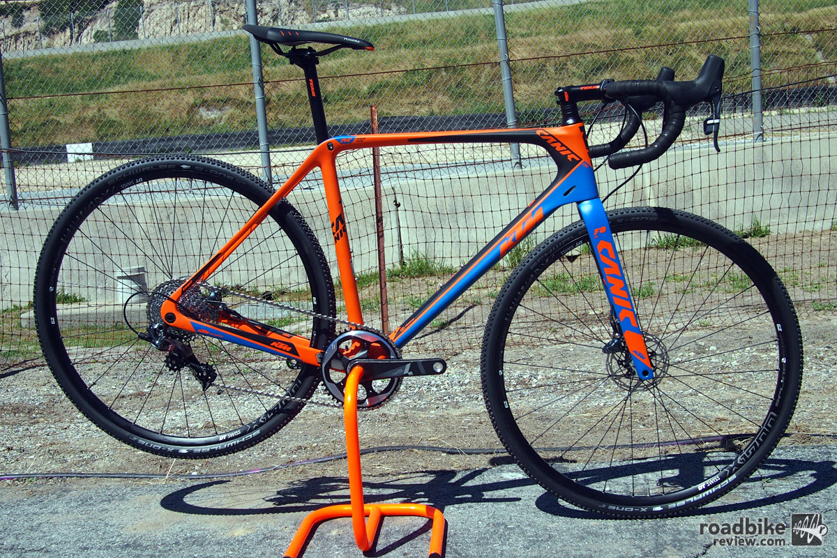KTM brings their top-of-the-line carbon cross race rig to the US with a price of $4490.