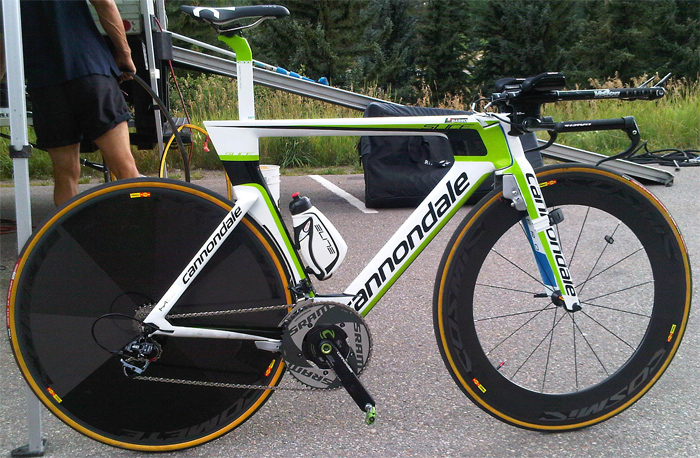 cannondale testing new slice tt bike at usa pro cycling. Black Bedroom Furniture Sets. Home Design Ideas