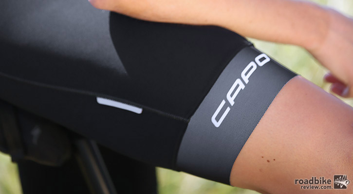Initially the leg gripper was powerful, almost over-the-top. But it softened over time. Photo courtesy of Art's Cyclery
