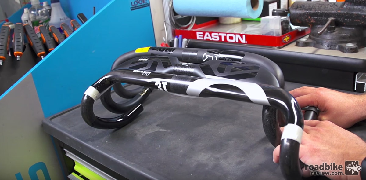 Carbon handlebars absorb more road vibration and chatter.