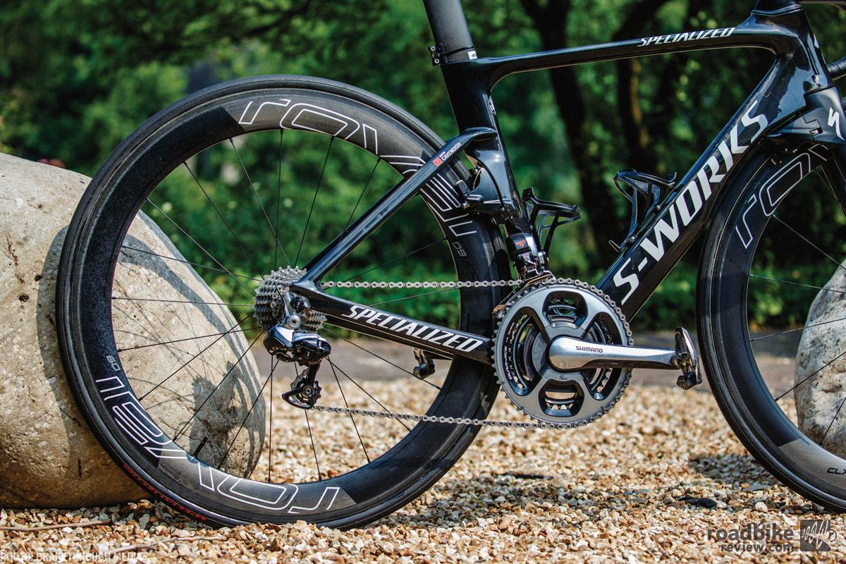 Wheels are Roval CLX60. Drivetrain is Shimano Dura-Ace Di2. Photo by Brakethrough Media
