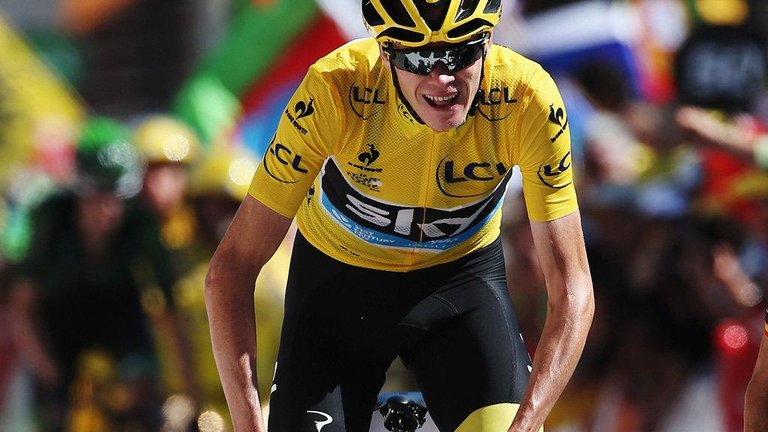 It took Chris Froome 84 hours, 47 minutes, 26 seconds to win his second Tour de France title. Photo courtesy Team Sky