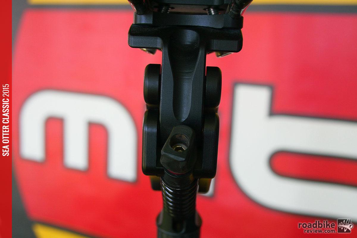Adjustable pre-load for spring tension. Optional hand adjuster installed.