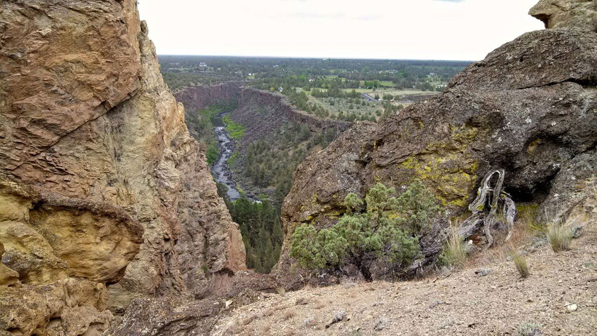 Over millions of years, the Crooked River has eroded and exposed the magnificent landscape in Smith Rock State Park.