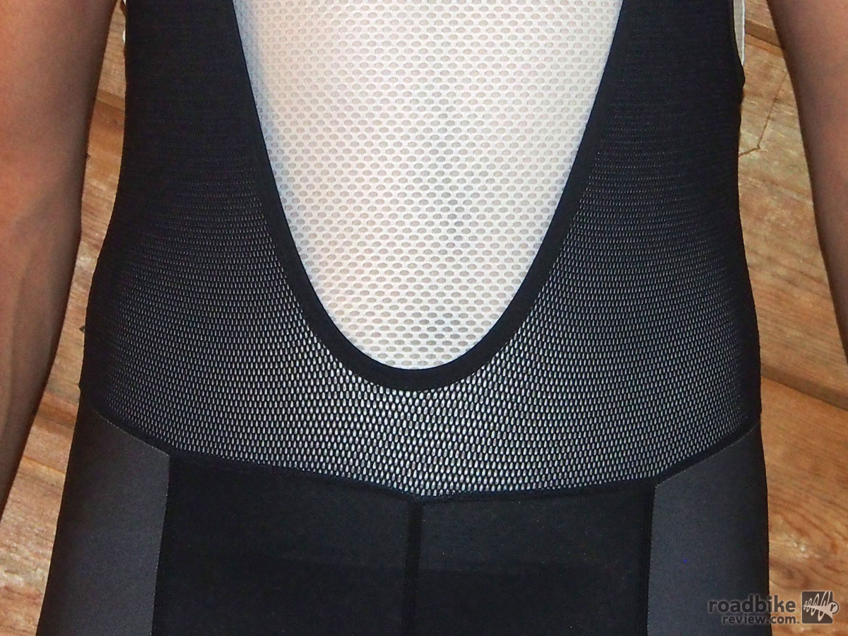 Mesh shoulder straps are soft, comfortable and breathe well.