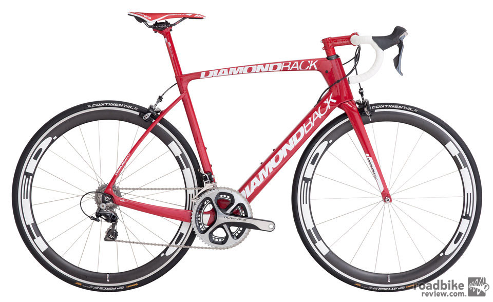 Spec includes a full Shimano Dura Ace mechanical groupset and HED Jet 4 SCT clincher wheels ($7500).