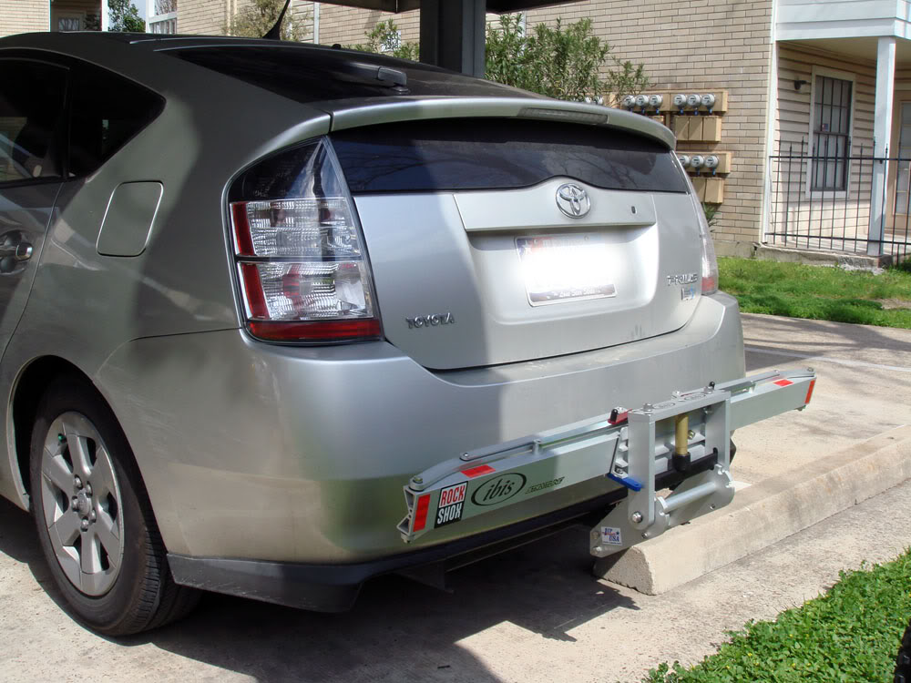 1up USA Bike Rack folded on Prius