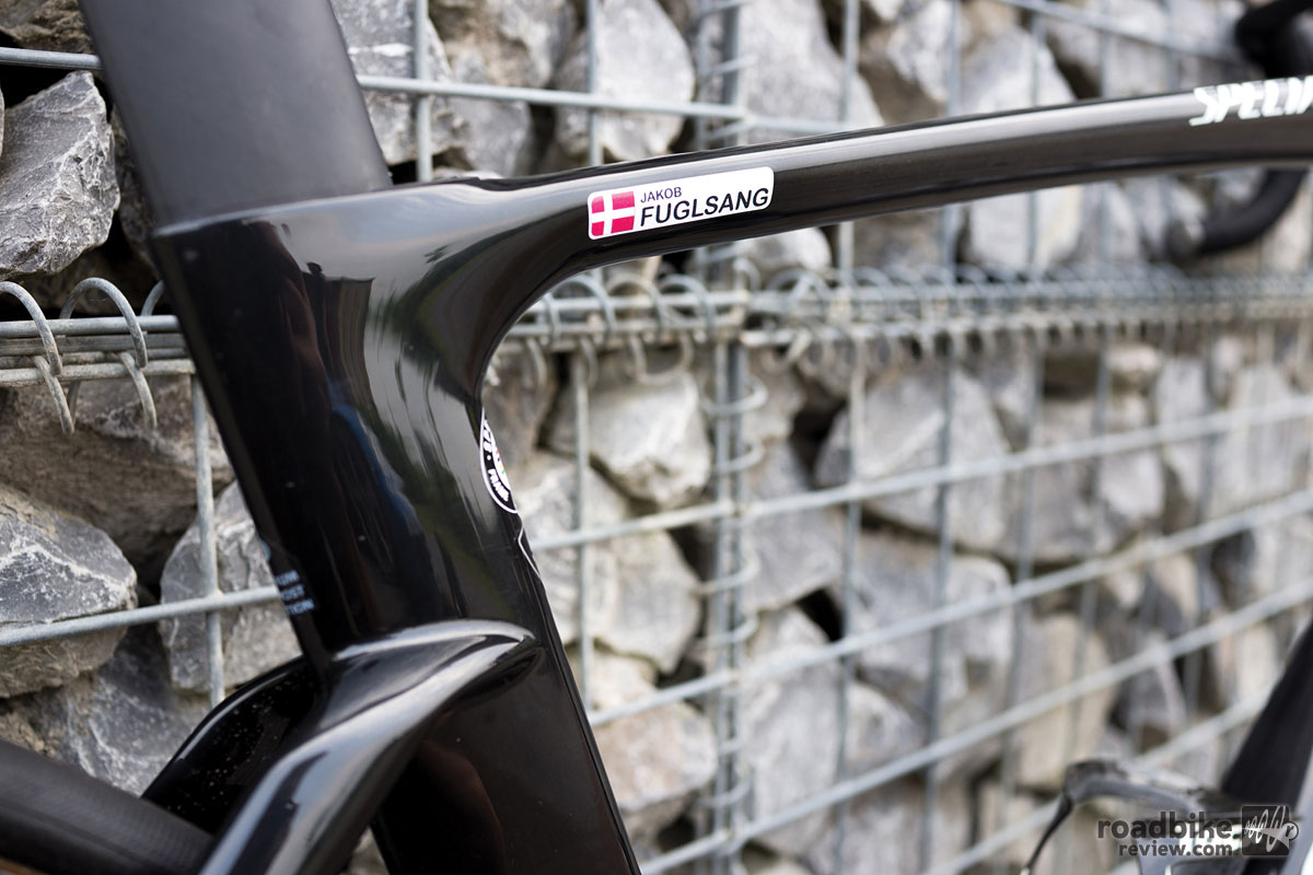 When you race on the WorldTour you get your name on your bike.